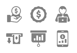 Business and Finance Glyph