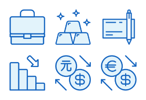 Business & Finance - Monochrome Icons