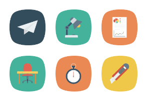 Business Flat Square Icons Vol 2