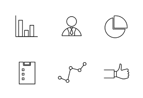 Business items in black and white
