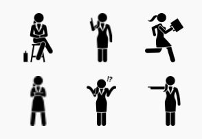 Businesswoman Basic Action Postures