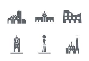Capital & World Landmarks glyphs vol 1