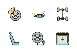 Car Service Color Iconset