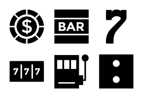 Casino Solid Icons 1