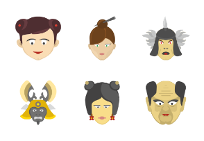 Chinese faces for avatars