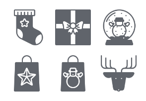 Christmas Day Glyph Icons