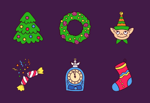 Christmas Hand Drawn Colorful Collection