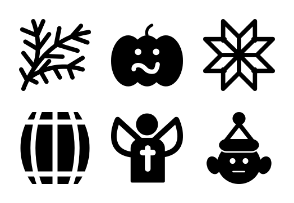 Christmas Solid Icons Vol 2