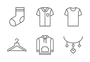 Clothes & Accessories - Outline