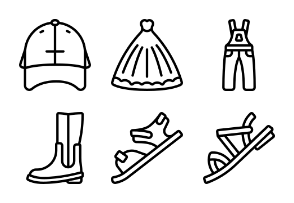 Clothing And Accessories Outline