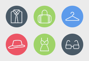 Clothing and Fashion Accessories Icons