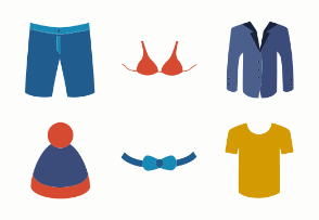 Colored clothes