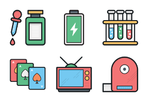 Colored Vector Icons 6