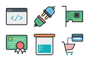 Colored Vector Icons 8