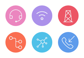 Communication and Wireless Network Icons