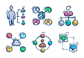 Communication, Networking and Web hosting - Doodle Flat