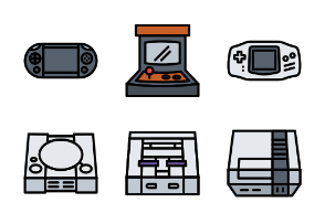 Console Games (Filled Line)