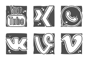 Cool Social Networks Logos