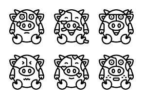 Cow Emoji Outline