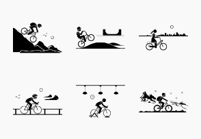 Cycling bicycle places