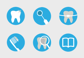 Dental Blue Icons