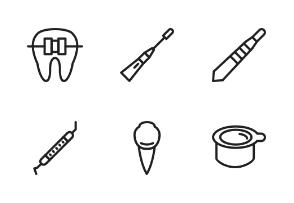 Dentist Equipment Linear Black