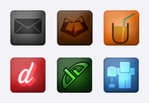 Glowing Social Network Icons