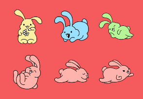 Easter Bunny Color Set