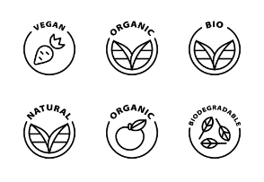Eco food and cosmetic labels