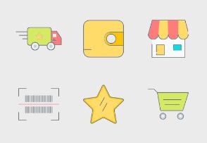 eCommerce Colored Set