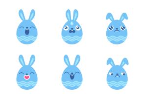 Egg Bunny Blue
