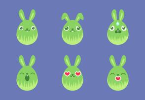 Egg Bunny Green