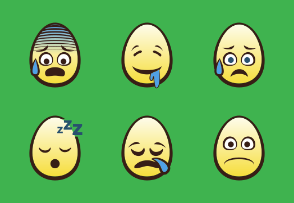Egg Head Emojis | Yellow
