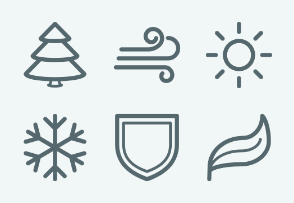 ELASTO Elements of nature Flat & Outline icons