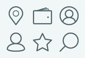 ELASTO Ecommerce UI Flat & Outline icons