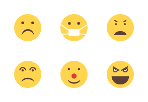 Emoticons Flat Colorful