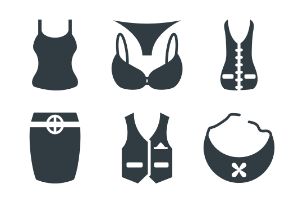 Fashion and Clothes Glyphs 6
