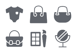 Fashion and Clothes Glyphs vol 1
