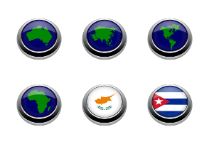 Flags button 3D 1