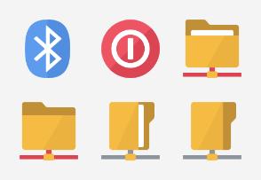 Flat Design - Hardware Network set 3