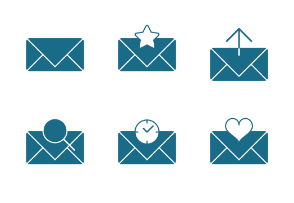 Flat Field Mono - Email Icon Set