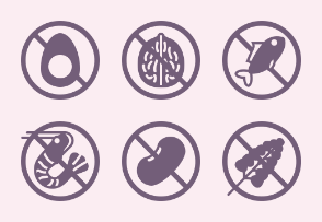 Food Allergens (glyph - black)