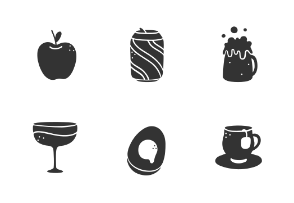 Food and Drink Glyphs