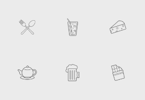 Food and drinks linear-outline