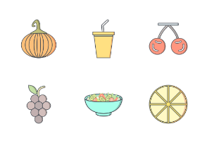 Food Flat Outline