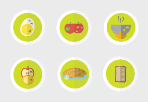 food safety flat icons