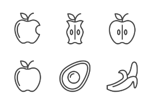 iOS icons - Fruit and veg