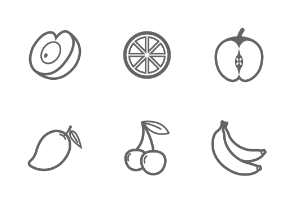 Fruit outline stroke