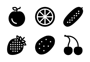 Fruits & Vegetables Glyph