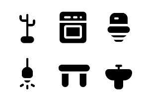Furniture and Home Appliances (Glyph)